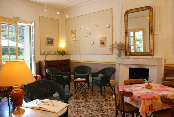 "the ""salon"" of the Auberge"