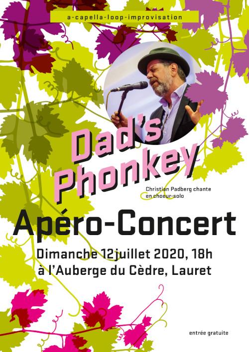 Dimanche 12 Juillet : apéro-concert Dad's Phonkey